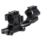 KDL30-25 30mm to 25.4mm Dual Aluminum Alloy Bracket Gun Rail Mount w/ Hex Wrench - Black