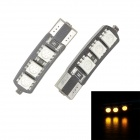 Merdia T10 3.5W 60lm 570nm 6-SMD 5050 LED Gelb Canbus Decodierte Car License Plate Light - (Paar)