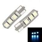 Merdia T10 3.5W 60lm 470nm 6-SMD 5050 LED Blue Canbus Decoded Car License Plate Light - (Pair / 12V)
