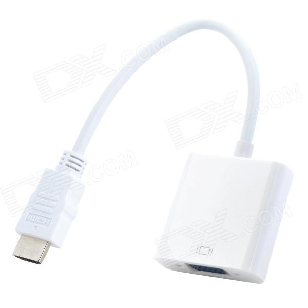 XIANGZHI Y-S6h HDMI Male to VGA Female HD Adapter Cable - White xiangzhi y s7 hdmi to vga video audio hd converter adapter cable white