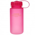 UZSPACE High-Quality Leak-Proof Frosted Colorful Bottle with Filter Cover - Deep Pink (400mL)