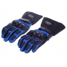 MADBIKE Stylish Waterproof Warm Full Finger Motorcycle Racing Gloves - Black + Blue (Pair / Size-L)
