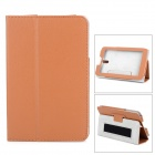 Protective PU Leather Case for Huawei S7-601 c / w / u & S7-701C - Brown