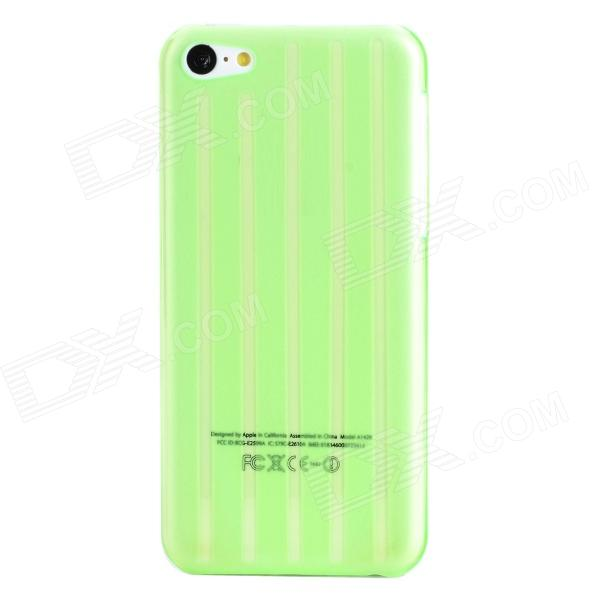 Frosted Stripe Style Protective Plastic Back Case for Iphone 5C - Translucent Green water drops pattern protective pc back case for iphone 5c translucent green translucent blue