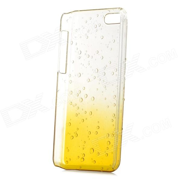 Water Drop Gradual Change Style Protective Plastic Back Case for Iphone 5C - Yellow + Transparent protective plastic rain drop case for iphone 5 transparent blue transparent