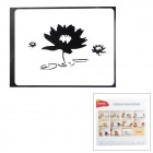 "Creative Lotus Pattern Sticker for MacBook 11"" / 13"" / 15"" / 17"" - Black"
