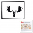 "Creative Moose Pattern Sticker for  MacBook 11"" / 13"" / 15"" / 17"" - Black"