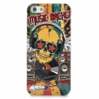 Music Skull Style Protective Plastic Back Case for iPhone 5 - Multicolor