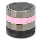 Portable Super Bass Bluetooth v2.1 + EDR Speaker w/ Microphone / FM - Black + Silver + Pink
