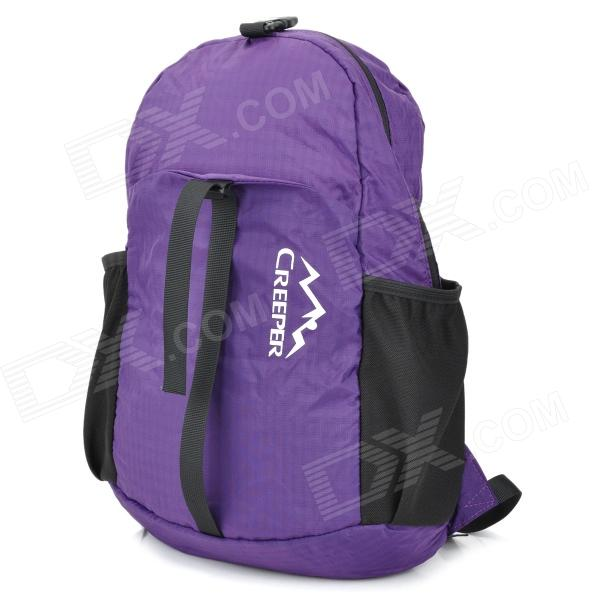 Creeper YD-017 Outdoor Sports Camping 420D Nylon Backpack Bag - Purple (16L) d 500 0255 017 [ data bus components miniature coupler d 500 0255 017]