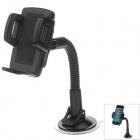 H05 360 Degree Rotation Four Ports Suction Cup Holder w/ C47 4.3/5'' Back Clip - Black