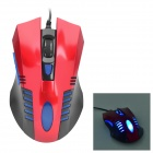 VMO-106 USB 2.0 Wired Optical 800 / 1200 / 1600 / 2400dpi Game Mouse - Red + Black + Blue