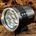 ZHISHUNJIA 7 x Cree XM-L T6 2800lm 3-Mode White Bicycle Light w/ Tail Signal Light (6 x 18650)