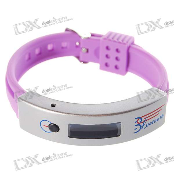 "0.9"" OLED Bluetooth Incoming Call Vibrate Alert Bracelet with Caller ID Display (Pink)"