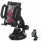 "H80 360 Degree Rotation Suction Cup Holder w/ C38 4.3~5.5"" Back Clip-Black"