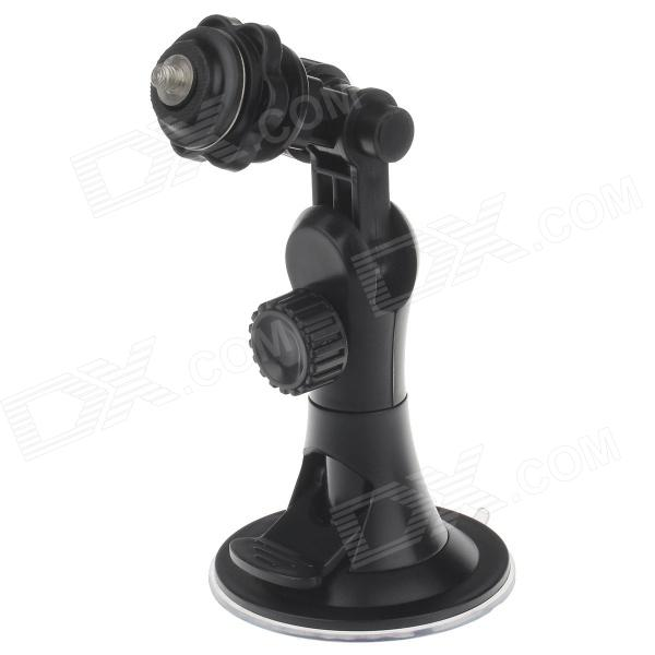 H08B Universal 360 Degree Rotatable Car Screw Mount Holder for Digital Camera / DV /GPS - Black