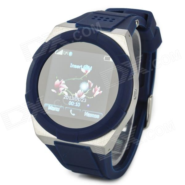 KICCY A6 GSM Watch Phone w/ 1.54 Screen, Bluetooth, Quad-Band and Bluetooth - Blue + Silver kiccy a6 gsm watch phone w 1 54 screen bluetooth quad band and bluetooth blue silver