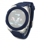 "KICCY A6 GSM Watch Phone w/ 1.54"" Screen, Bluetooth, Quad-Band and Bluetooth - Blue + Silver"