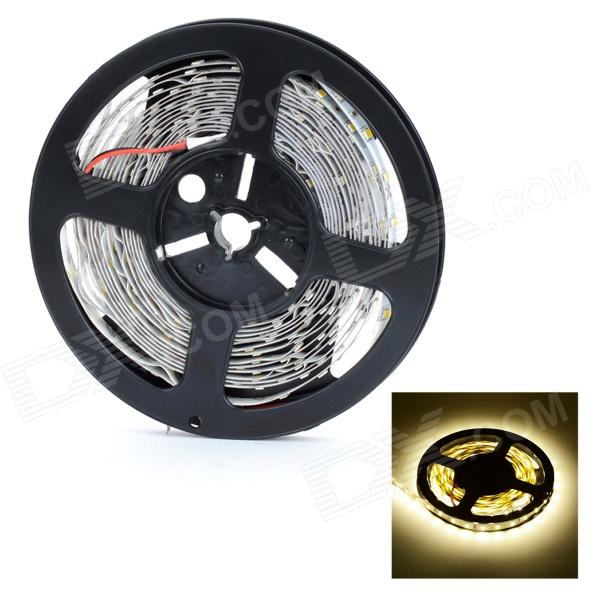 HML 13000lm 3000K 300-5730 SMD LED Warm White Car Decoration Lamp Strip - White + Yellow (12V / 5m)