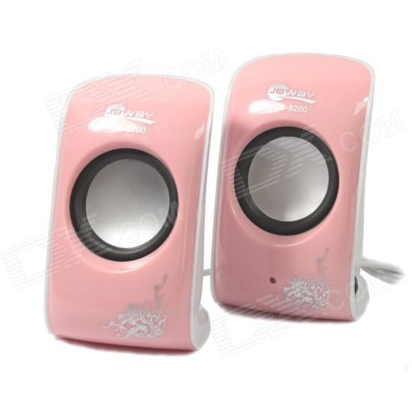 Jeway JS-5200 USB Portable Music Speaker for PC / Laptop - Pink (2 PCS) mymei best price new portable 3 5mm pillow speaker for mp3 mp4 cd ipod phone white