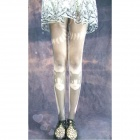 Stylish Cat Pattern Velvet Pantyhose Stockings - Grey