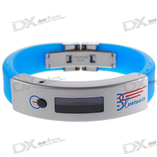 "0.9"" OLED Bluetooth Incoming Call Vibrate Alert Bracelet with Caller ID Display (Blue)"