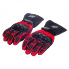 MD015#  Stylish Water-proof  Warm Full Finger Motorcycle Racing Gloves - Black+Red (Pair /M -Size)