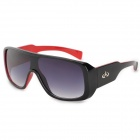 CARSHIRO K3589 Fashionable Sports UV400 Windproof Sand-shield Sunglasses - Black + Red