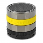 B.M Portable Super Bass Bluetooth v2.1 + EDR Speaker w/ Microphone / FM - Black + Silver + Yellow