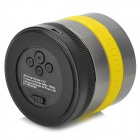 Portable Super Bass Bluetooth v2.1 + EDR Speaker - Yellow + Metal Grey