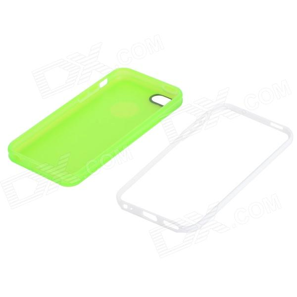 Iphone 5c Green With White Case Detachable 2-in-1 Prot...