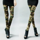 B91603 Fashion Military Style Women's Ninth Legging Pants - Camouflage (Free size)