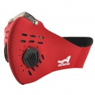 Acacia Outdoor Cycling Neoprene Half Face Mask - Red + Black (L)