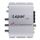 Lepai LP-838 60W Multifunction Stereo Car Audio Power Amplifier - Silver