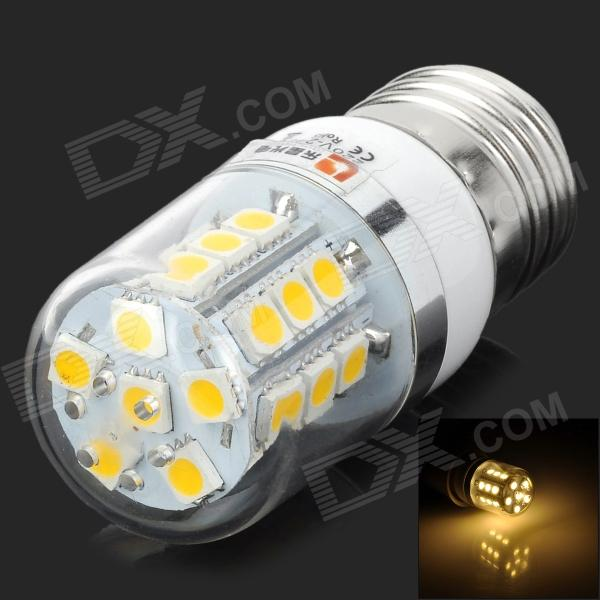 Lexing LX-YMD-051 E27 3W 3500K 150lm 27-SMD-5050 LED Warm White Corn Light Bulb - White (220~240V) lexing lx lzd 1 e14 3w 200lm 3500k 6 smd 5730 led warm white lamp bulb 85 265v