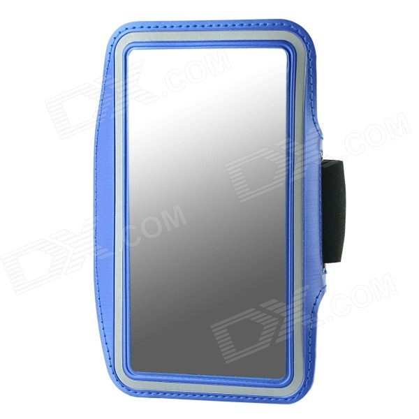 Protective Neoprene Sport Armband for Samsung Galaxy Note 3 N9000 - Blue + Black + Silver Grey