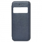 Protective PU Leather + ABS Case w/ Display Window for Iphone 5C - Dark Blue