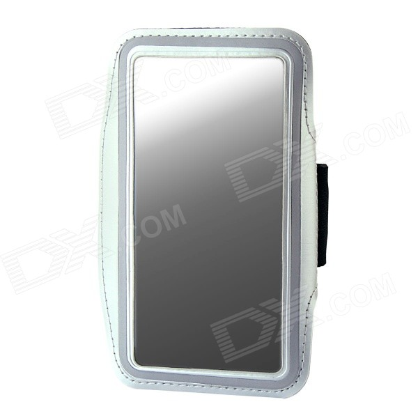 где купить Protective Neoprene Sport Armband for Samsung Galaxy Note 3 N9000 - Silver + Black + Silver Grey дешево