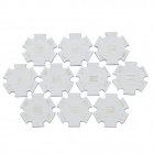 20mm Star Aluminum Base Boards for Cree XM-L T6 / U2 / U3 - White + Silver (10 PCS)