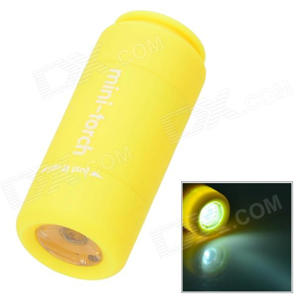 Mini Torch USB Rechargeable LED 2-Mode White Flashlight - Yellow