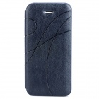 Protective PU Leather Flip Case for Iphone 5 / 5S - Dark Blue