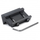 Aluminum Alloy Universal Side Rail Mount para 20mm armas - Preto