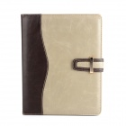 Business Style Protective PU Case w/ Card Slots / Stand for Ipad 2 / 3 / 4 - Grey + Deep Brown