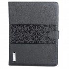 Protective PU Leather Flip Open Case w/ Stand / Card Slots for Ipad 2 / 3 / 4 - Black