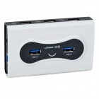 High Speed 7-Port USB 2.0 Hub w/ US Plug Power Adapter - White + Black