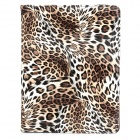 CT1211017 Leopard Style Protective 360 Degree Rotation PU Leather Case for Ipad 2 / 3 / 4 - Brown
