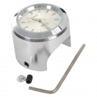 Universal Cycling Bicycle Mounted Mini Aluminium Alloy Clock  Watch - Silver