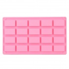 Silicone 20-Lattice Cake / Ice Cube Tray Mold - Pink