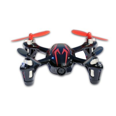 Hubsan X4 H107C 2.4G 4CH R/C Quadcopter w/ 0.3MP Camera - Black + Red (Mode 2)