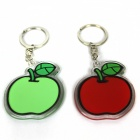 Apple Style Acrylic Keychains - Red + Green (2 PCS)